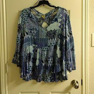 Boho blouse nwot